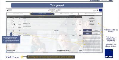 aldes-selector-quote-interfaz-vista-general