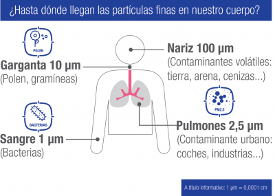 Calidad del aire Partículas finas cuerpo humano