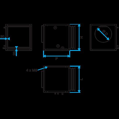Baterías externas en caja