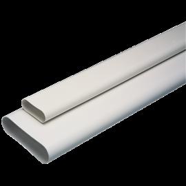 Barra MINICONDUCTO blanco 1 m equivalente Ø125 mm (200 x60)