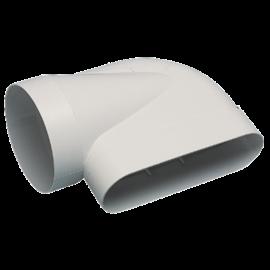 Codo horizontal 90° para conducto Ø125 mm