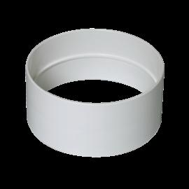 Manguito Miniconducto blanco hembra para conducto equivalente Ø125