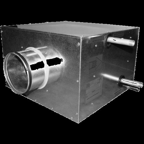Baterías de agua en caja BACF
